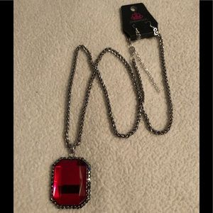 Paparazzi Let Your Heir Down red necklace